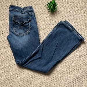 Silver flared jeans